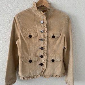 Baxis & Baxis Suede Leather Jacket